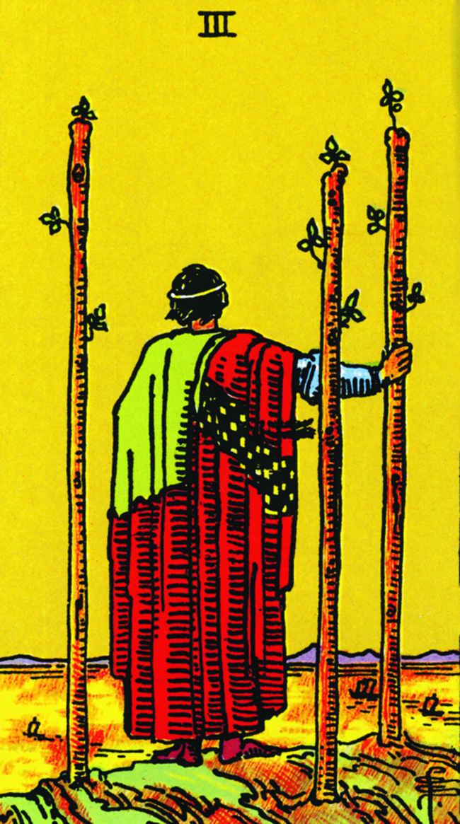 3 жезлов (младший аркан Таро): значение карты , сочетания